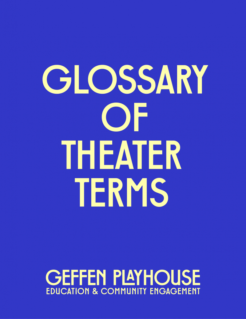 Glossary of Theater Terms